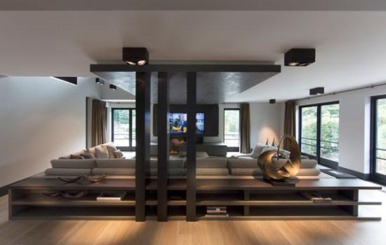 Sunken living room design with wooden roofing - NO.1# BEAUTIFUL SUNKEN LIVING ROOM DESIGN IDEAS