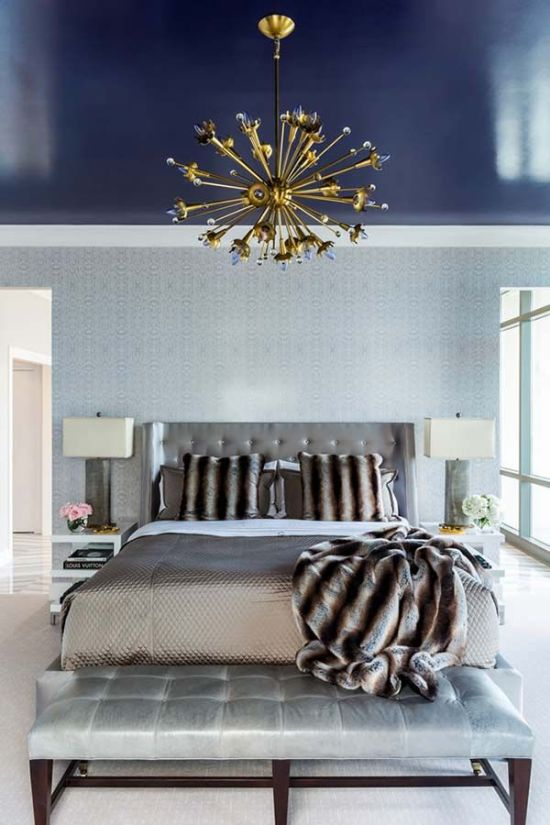 Luxury Master Bedroom Decor With Sputnik Chandelier