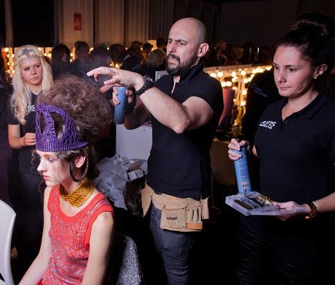 hairstylist at lfw ss13