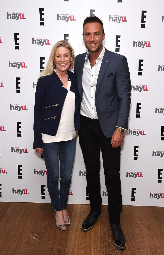 "LONDON, ENGLAND - JUNE 02: Calum Best and mother Angie Best attend the launch of new US celebrity dating show ""Famously Single"" featuring Calum Best on June 2, 2016 in London, England. The show will be available on hayu from Wednesday 15th June and on E! Sunday 19th June at 10pm. (Photo by David M. Benett/Dave Benett/Getty Images for E! / hayu - NBCUniversal) *** Local Caption *** Calum Best; Angie Best"