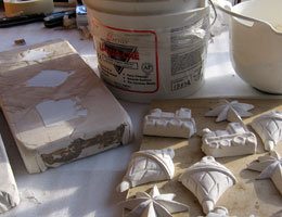 Paper Mache Christmas Ornaments, In Process