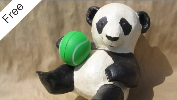Paper Mache Panda Pattern