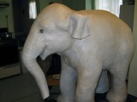 painting paper mache elephant