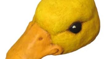 Paper Mache Duckling Hat Mask
