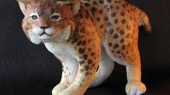Bobcat Sculpture