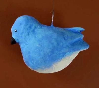 Paper Mache Bluebird