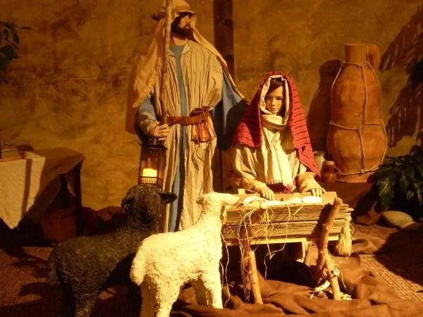 Life Sized Christmas Nativity Made With Paper Mache
