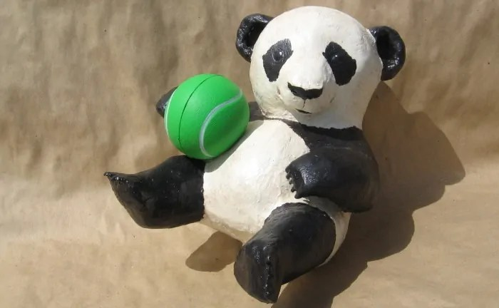 How to make a paper mache panda