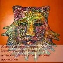 paper mache lion