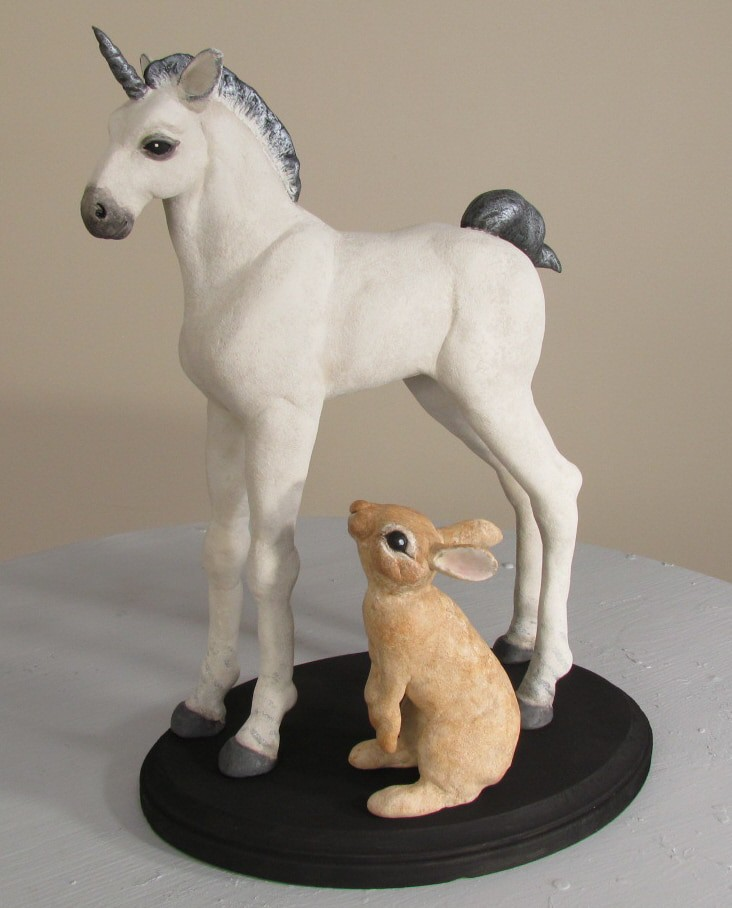 The Unicorn, Hanging Out with His Friend, the Rabbit