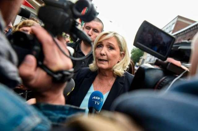La présidente du Rassemblement national, Marine Le Pen, le 8 septembre à Hénin-Beaumont.