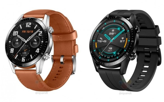 Huawei Watch GT 2 leaks with smaller bezels, bigger battery