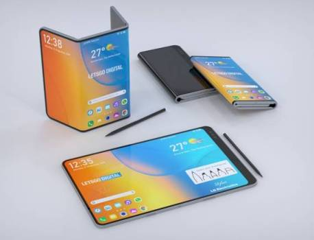 LG foldable phone renders show two-fold design, stylus