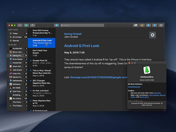 netnewswire macos mac gratuit 2 - NetNewsWire 5 Mac - Le Meilleur Lecteur de Fils RSS Dispo (gratuit)