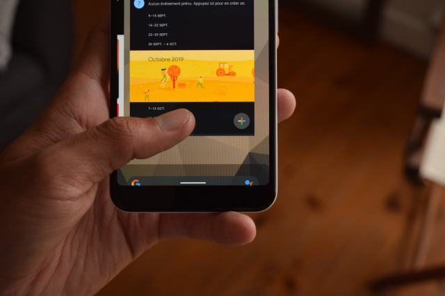 Android 10 geste commande