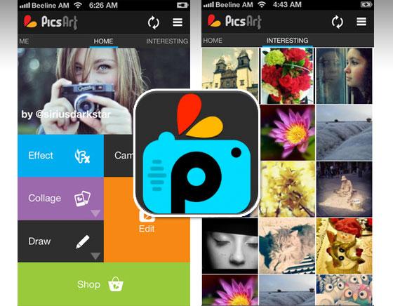 1 PicsArt Photo Studio iPhone - PicsArt Collage iPhone iPad - Création Photo et Video (gratuit)