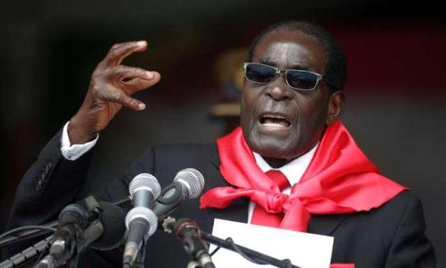 Le président Robert Mugabe lors de son 90e anniversaire, le 23 février 2014.