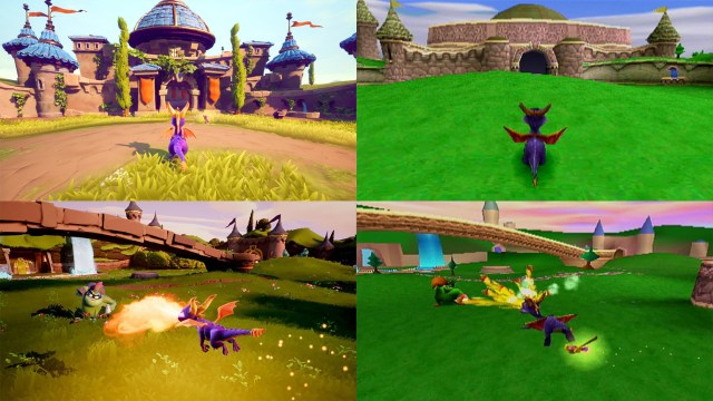 Spyro Reignited Trilogy Comparatif PS4/PS1