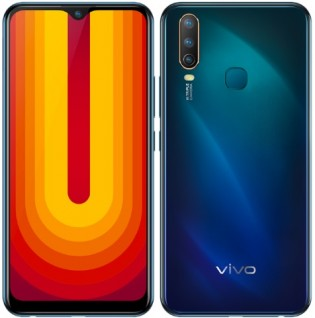 vivo U10 in Electric Blue color