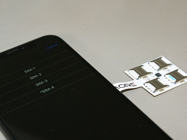 adapteur coque 4g iphone xr x quadruple multi carte sim maxiapple 03 - Voici Comment Utiliser 4 Cartes SIM sur un iPhone 11 (video)