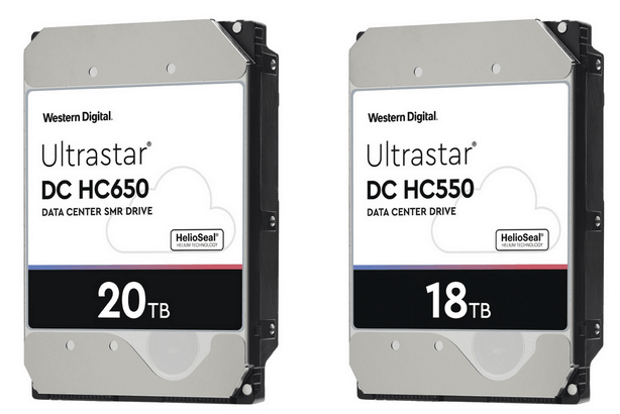 Western Digital : les disques durs SMR de 18 To et 20 To arrivent pour les centres de données