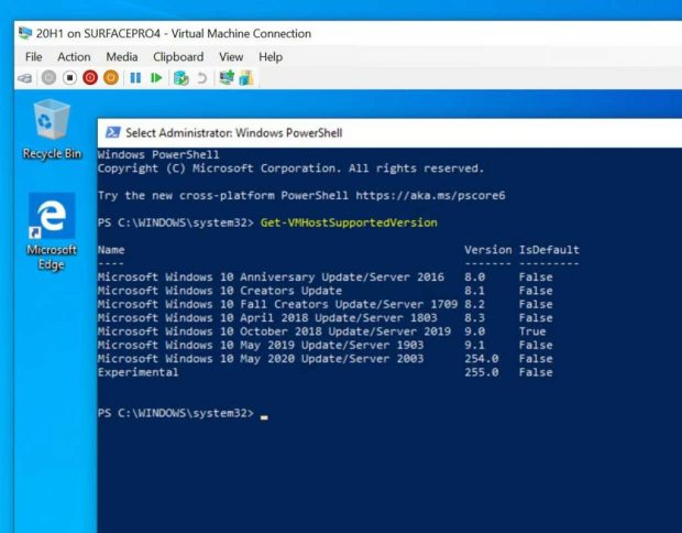 Windows 10 20H1 alias May 2020 Update