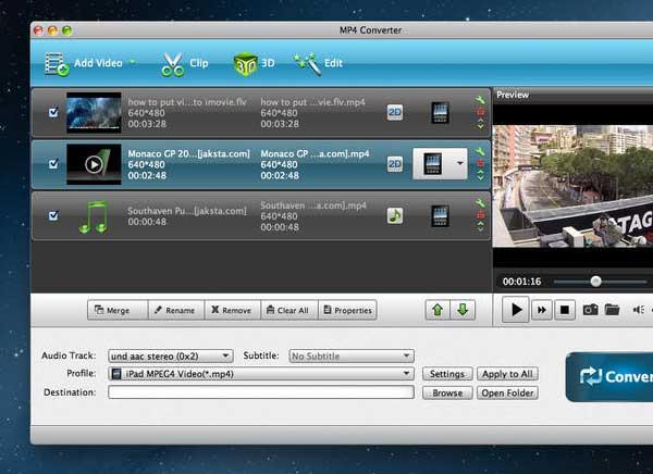 MP4 Converter Mac OSX 2 - Aiseesoft MP4 Converter Mac - Editeur et Convertisseur Video (gratuit)