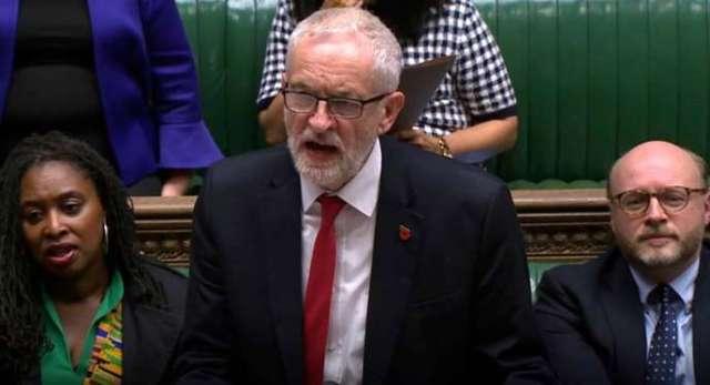 Jeremy Corbyn à la Chambre des communes, lundi 28 octobre.