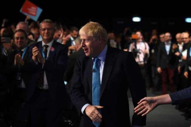 Boris Johnson lors du congrès annuel du Parti conservateur à Manchester, le 2 octobre.