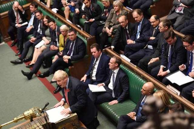 Boris Johnson devant la Chambre des communes à Londres, le 29 octobre.