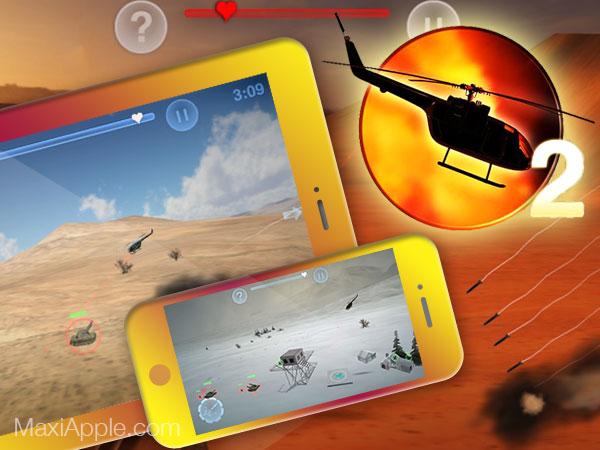 chopper 2 jeu iphone ipad ipod touch 01 - Chopper 2 iPhone iPad - Jeu de Combat d'Hélicoptère (gratuit)