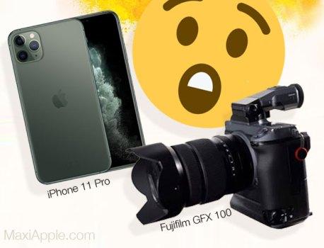 Comparatif entre l'iPhone 11 Pro et le Fujifilm GFX à 100 MP (video)