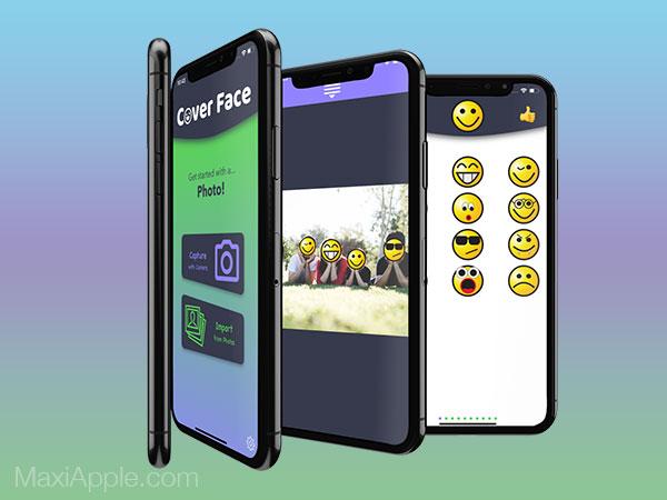 coverface iphone ipad gratuit maxiapple 02 - Cover Face iPhone - Cacher avec des Emojis des Personnes sur une Photo (gratuit)