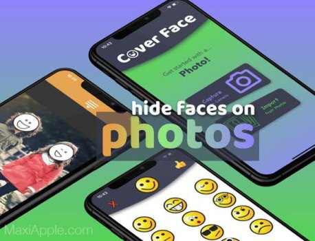 Cover Face iPhone – Cacher avec des Emojis des Personnes sur une Photo (gratuit)