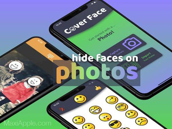 coverface iphone ipad gratuit maxiapple 01 - Cover Face iPhone - Cacher avec des Emojis des Personnes sur une Photo (gratuit)