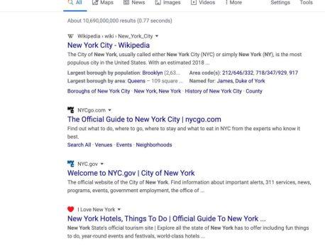 Google modifie l'affichage des résultats de recherche sur ordinateur