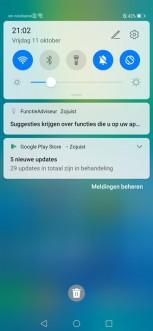 Screenshots after the update