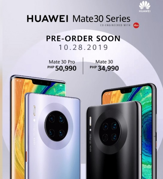 Huawei Mate 30 series pre-orders begin the Philippines from October 28
