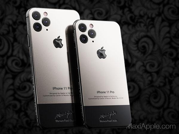 caviar iphone 11 pro superior jobs maxiapple 01 - iPhone 11 Pro en Hommage à Steve Jobs chez Caviar
