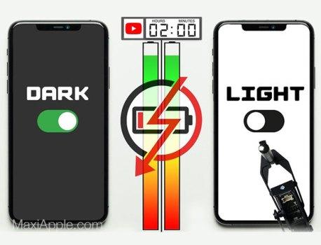 Le Mode Nuit Augmente l'Autonomie des iPhone (video)