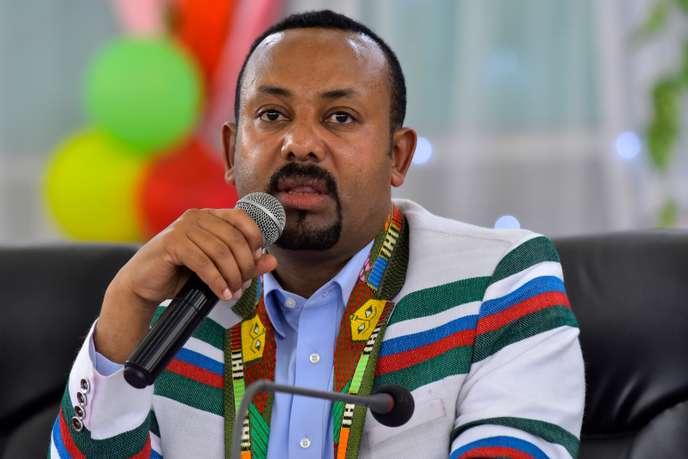 Le premier ministre éthiopien Abiy Ahmed, lors d'un discours à Bonga, principale ville de la province de Kaffa, le 15 septembre 2019