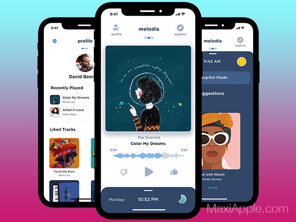 melodia music iphone 01 - Melodia Music iPhone - Lecteur Musical et Radio Intelligente (gratuit)