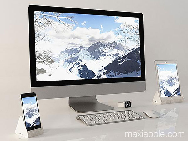 paper stand dock accordeon carton iphone ipad maxiapple 01 - Mini Dock Accordéon en Carton pour iPhone iPad (video)
