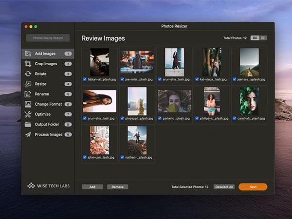 photos resizer resize images macos mac 01 - Photos Resizer Mac - Redimensionner vos Photos par Lot (gratuit)
