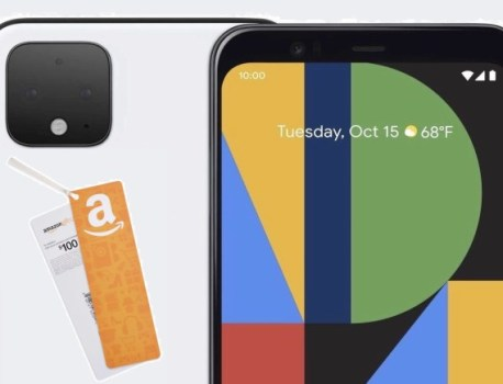 Pixel 4 64GB Unlocked now on Amazon with free gift card