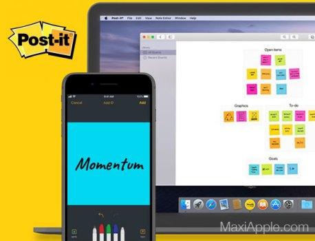 Post-it Mac iPhone iPad – Bloc Notes Collaboratif par 3M (gratuit)