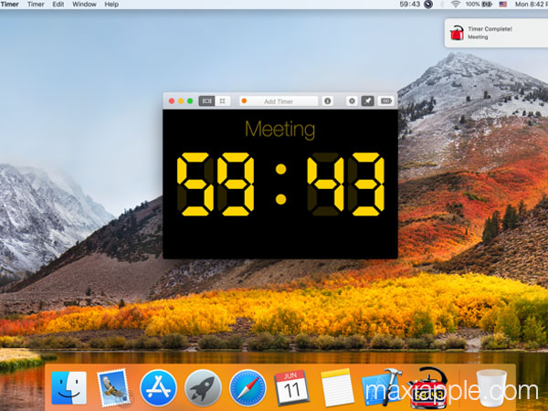 red hot timer macos mac maxiapple 01 - Red Hot Timer Mac - Minuterie Flottante Personnalisable (gratuit)