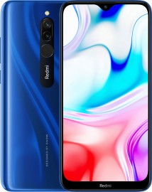 Redmi 8 in Sapphire Blue, Onyx Black and Ruby Red