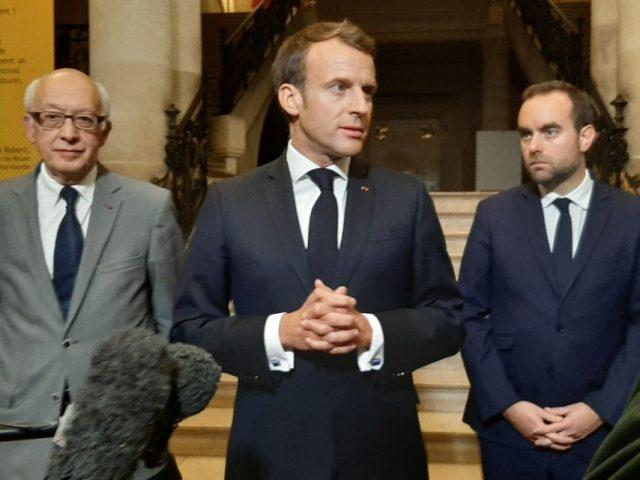 Le président Emmanuel Macron lors de son allocution.
