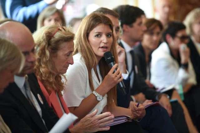 Marlène Schiappa lors du lancement du Grenelle des violences conjugales à Matignon à Paris, le3septembre.
